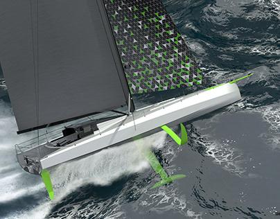 IMOCA 60 yacht concept design