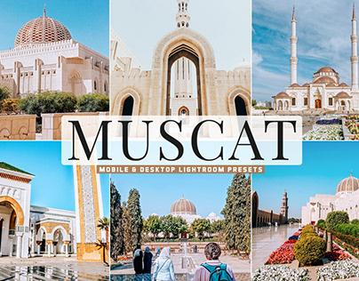Free Muscat Mobile & Desktop Lightroom Presets