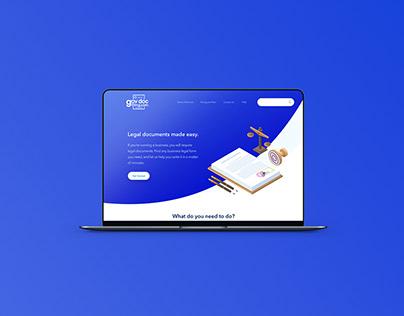 Gov Doc Filing Website UI