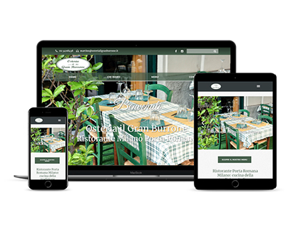 Milan Restaurant Website