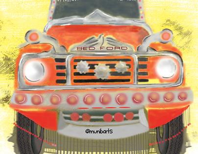 Painted Brush Truck Art