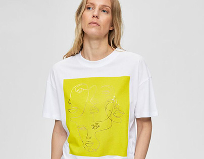Minimalist & Foil Printed T-shirt // SELECTED FEMME