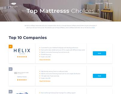 TopMattressChoices - Web design & development