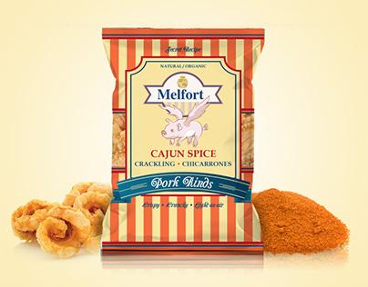 Melfort Pork Rinds - Packaging