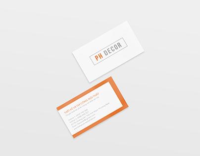 PH decor name card