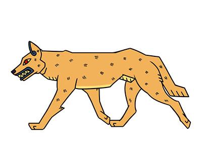 Aztec Dingo - 2D puppet