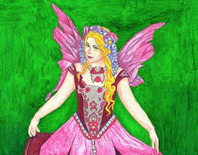 Puprle Fairy: Original A4 Artwork