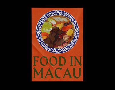 Food In Macau Illustrations