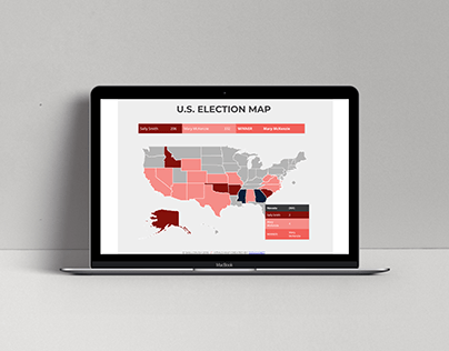Interactive Election Map Development