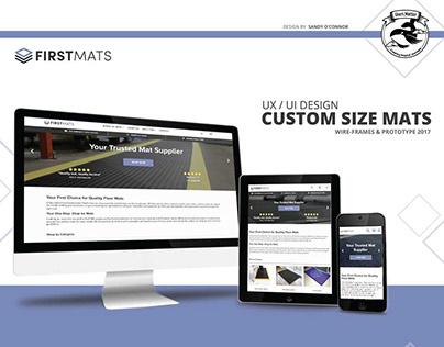 E-commerce Website - custom size mats