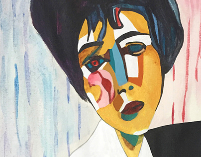 Modigliani with Picasso style