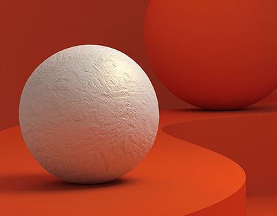 Red and White Sphere personal artwork ⚪