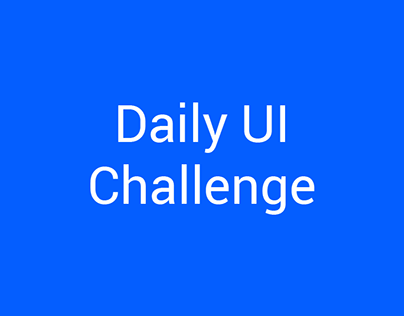Daily UI Design Challenge