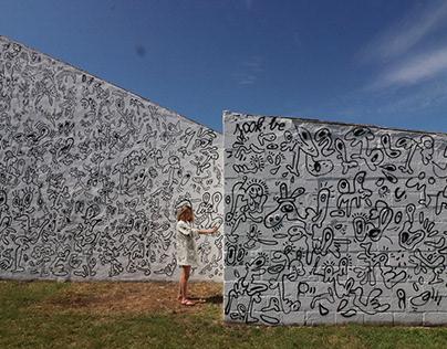 Doodle mural Zuienkerke