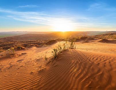 Sunset over Namibia