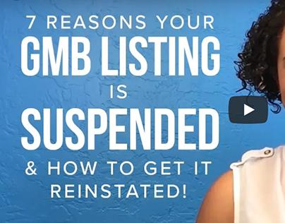 GMB Listing Suspended Explainer Video