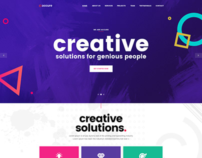 Accure - Creative Bootstrap 4 HTML Template