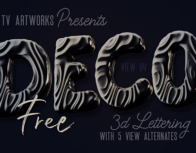 Free Dark Decorative 3D Lettering