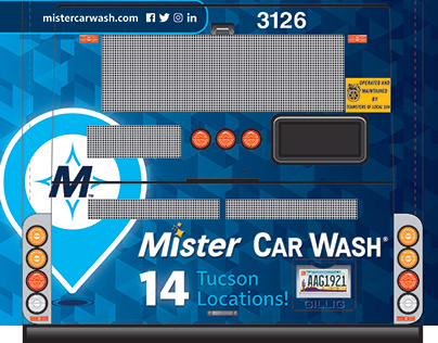 Bus Advertisement for Mister Car Wash Tucson Locations