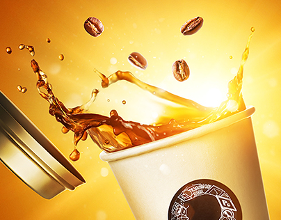 Flying coffee |  Non-commercial student work
