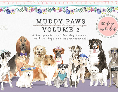 Muddy Paws Volume 2 - Dogs Galore