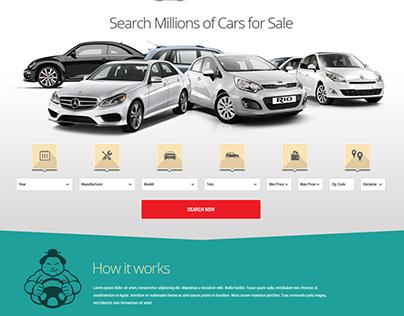 Automobile Marketplace Landing Page UI