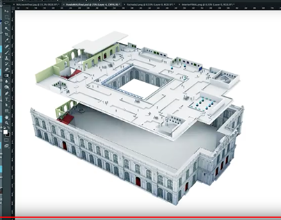 Complete Time-Lapse: 3D infographic working process