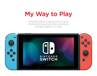 Nintendo Switch page concept design: Web and UI/UX