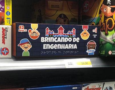 """Redesign da embalagem do jogo """"Brincando de Engenheiro"""""""