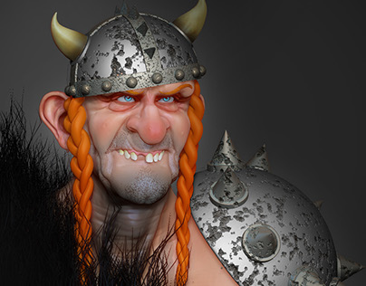 Viking goofy character