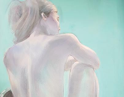miss M (arcylic on canvas)20p