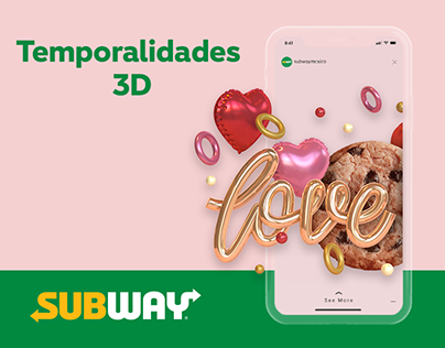 Temporalidades - Renders 3D - Subway® México