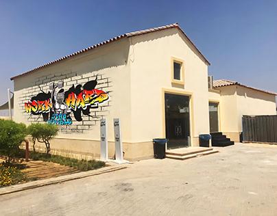 Wolves Gym Graffiti Design