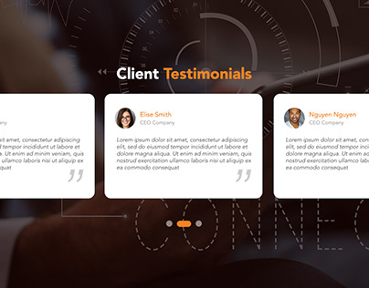 Daily UI - Day 101- Client Testimonials