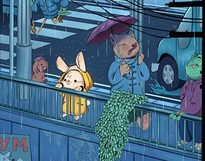 Animal city - Illustration