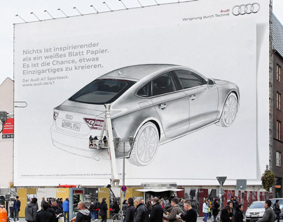 Audi Mural Berlin | hand painted outdoor advertising