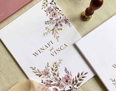 Winafi and Vinca Wedding Invitation