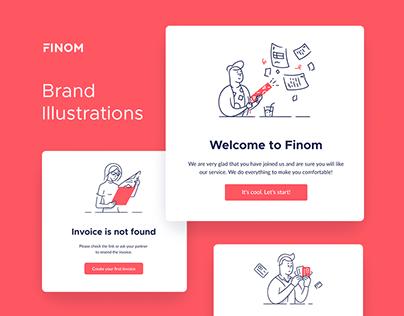 Finom Brand Illustrations