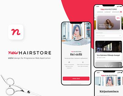 New Hairstore app