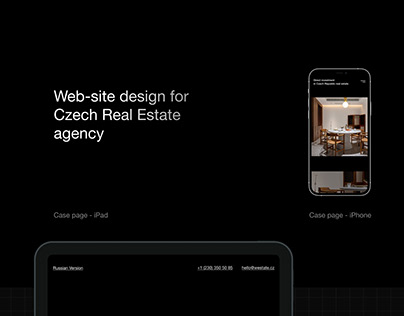Web-site for real estate company by minimalism ® agency