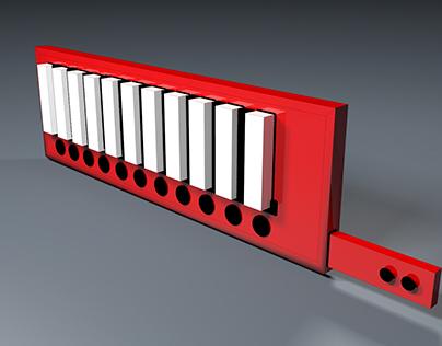 Keytar Render