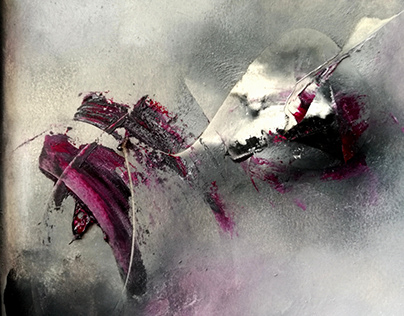 Scratches of Love series Abstract oilpaintings