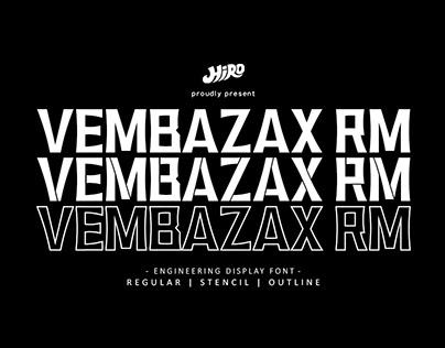 VEMBAZAX RM - FREE DISPLAY FONT