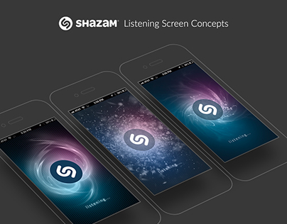 Shazam Listening Screen Concepts