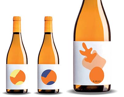Label proposal for Karas Wine - limit edition