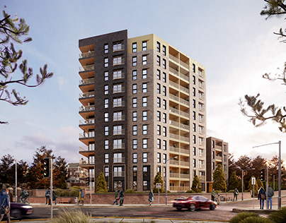 Exterior visuals for a project in Luton, New Bedford