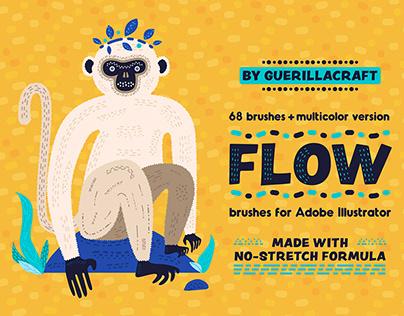 Flow Brushes for Adobe Illustrator + FREE DOWNLOAD