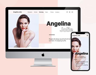 Angelina Jolie's website