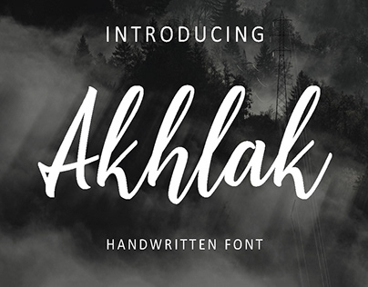 Free Akhlak Handwritten Font