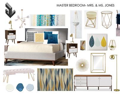 Mr. & Mrs. Jones. Master bedroom